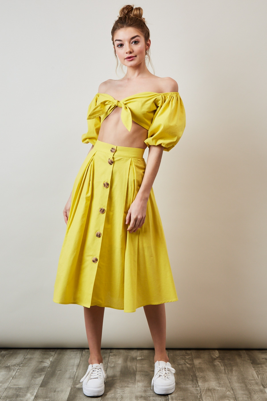 """Bright Side"""" Two-Piece Yellow Crop Top Skirt Set – STYLED WITH PRIDE 3fe38c8e0"""